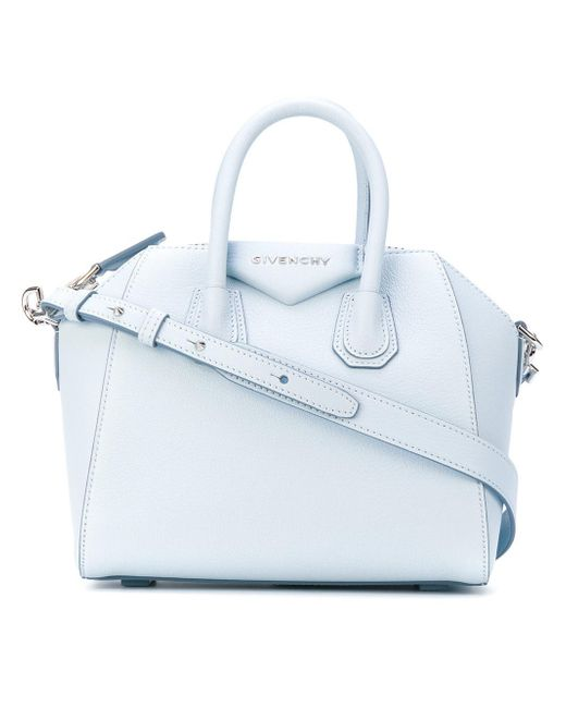 View  the best attitude e11d7 a3f2e Givenchy - Blue Mini Antigona Tote -  Lyst .. ... 8bec0b9923