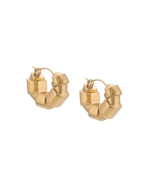 Ellery - Metallic Gold Tubular Hoop Earrings - Lyst