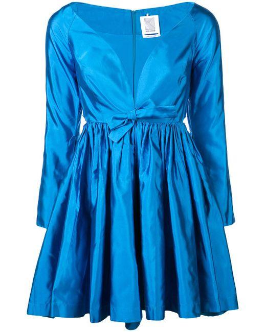 Rosie Assoulin - Blue Open Back Dress - Lyst