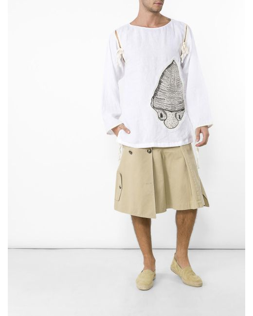 Loewe | Natural Trench Shorts for Men | Lyst