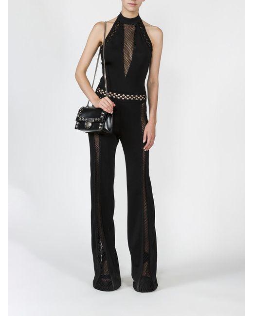 0dd3de2ba736 Lyst - Balmain Black Halterneck Jumpsuit in Black - Save 36%