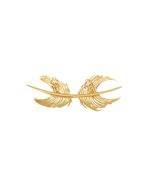 Paco Rabanne | Multicolor Feather Cast Brooch | Lyst