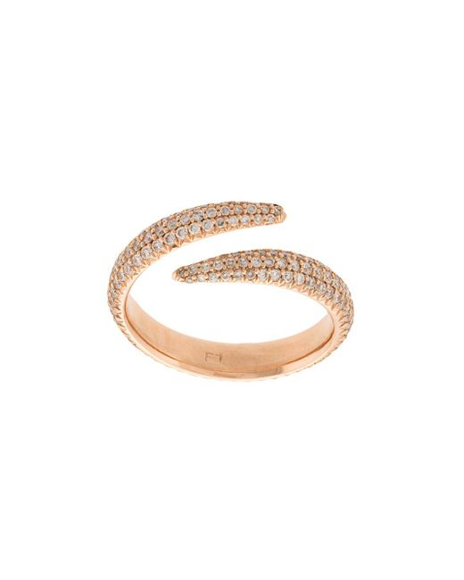 Eva Fehren - Metallic Claw Wrap Ring - Lyst
