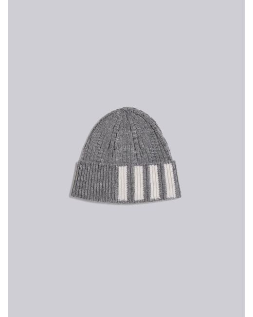 022890dc1ccc0 Thom Browne - Gray Ribbed Cashmere Hat for Men - Lyst ...