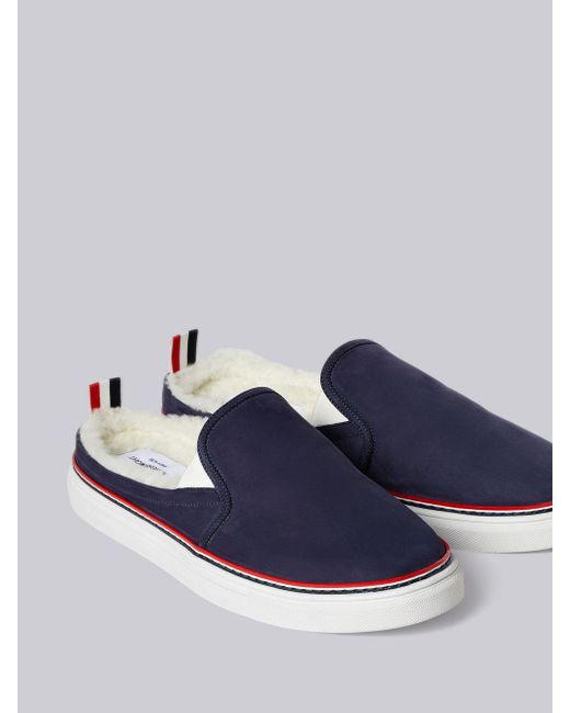 94d405fea78 ... Thom Browne - Blue Shearling Lining Trainer Slide for Men - Lyst ...