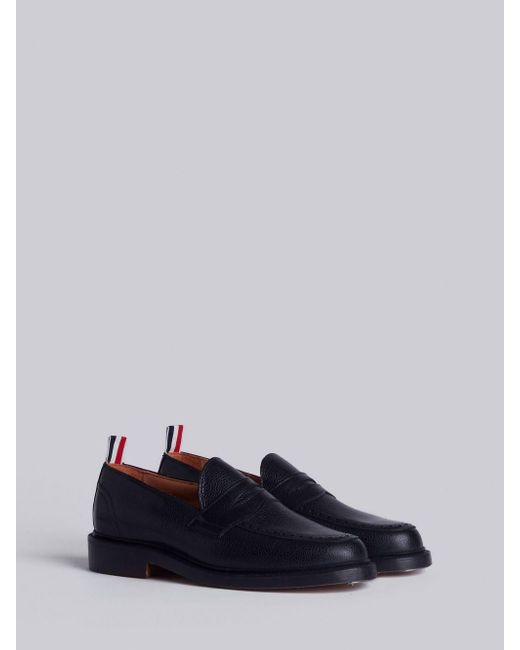 85552d6c6d1 ... Thom Browne - Penny Loafer With Leather Sole In Black Pebble Grain for  Men - Lyst ...