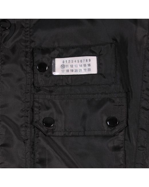 62c8fef33b ... Maison Margiela - Black 14 Nylon Logo Sports Jacket for Men - Lyst ...