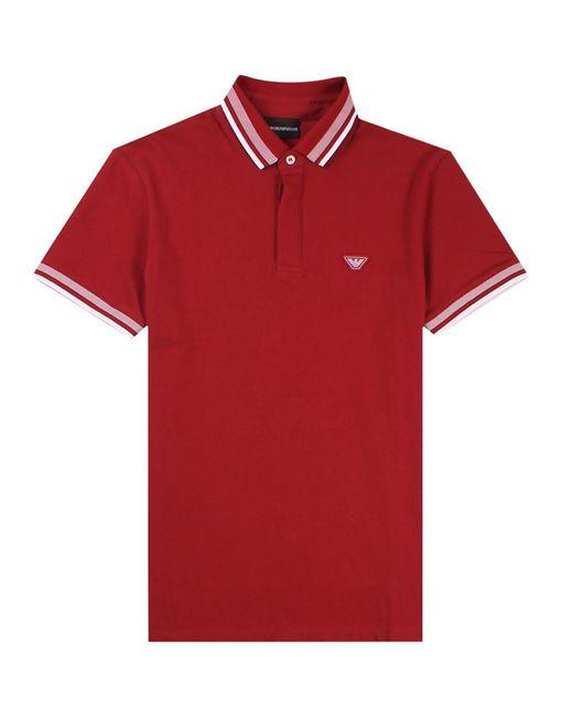 Emporio Armani - Ga Polo Shirt Red for Men - Lyst