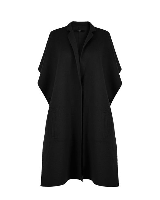 Tibi | Black Reversible Double Faced Wool-angora Cape | Lyst