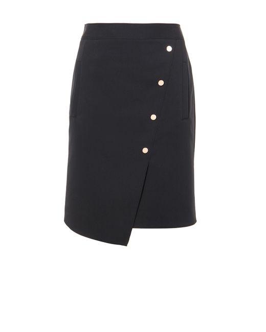 Tibi | Black Urban Stretch Asymmetrical Snap Skirt | Lyst