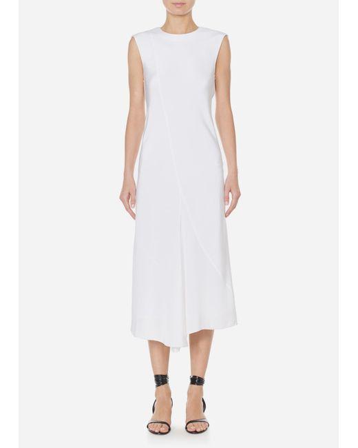 Tibi - White Silk Open Back Bias Dress - Lyst