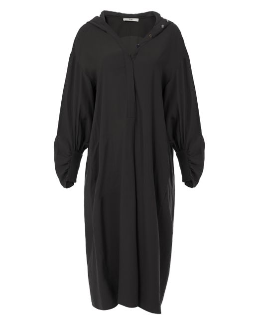 Tibi - Black Hoodie Shirtdress - Lyst