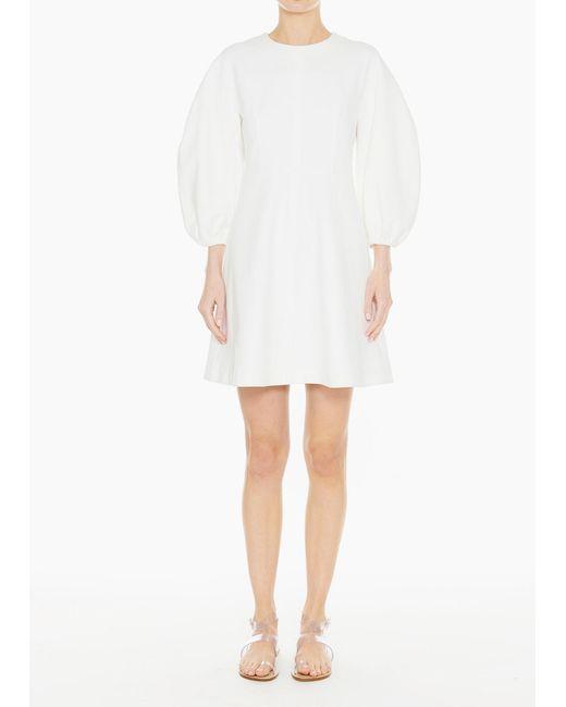 Tibi - White Bond Stretch Knit Sculpted Button Back Dress - Lyst