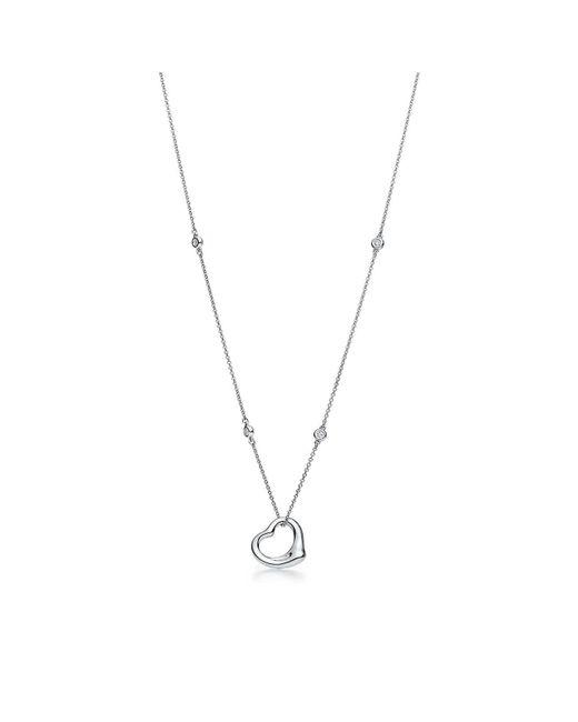 Tiffany & Co - Metallic Diamonds By The Yard® Open Heart Pendant - Lyst