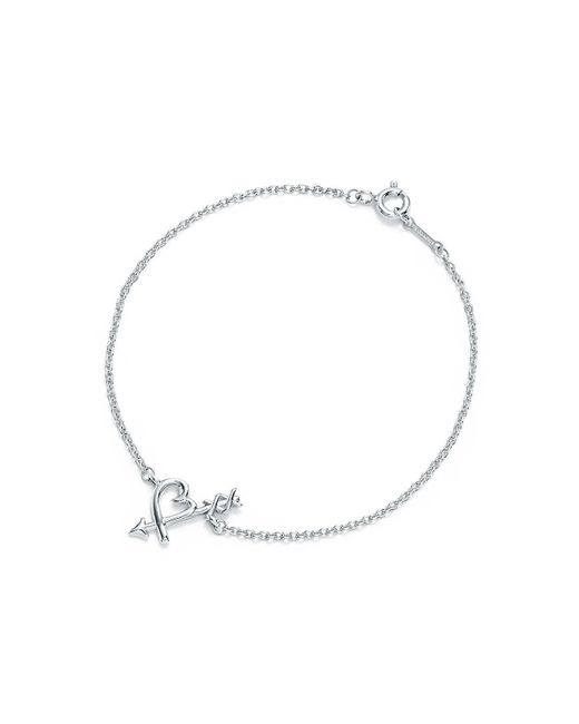 Tiffany & Co - Metallic Loving Heart Arrow Bracelet - Lyst