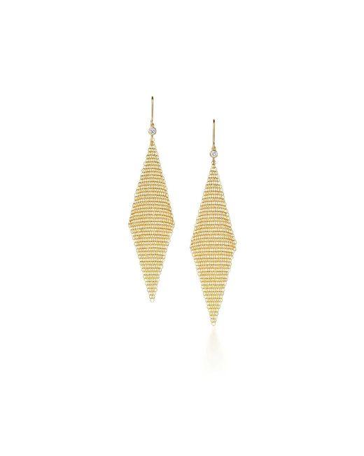 Tiffany & Co   Metallic Mesh Earrings   Lyst