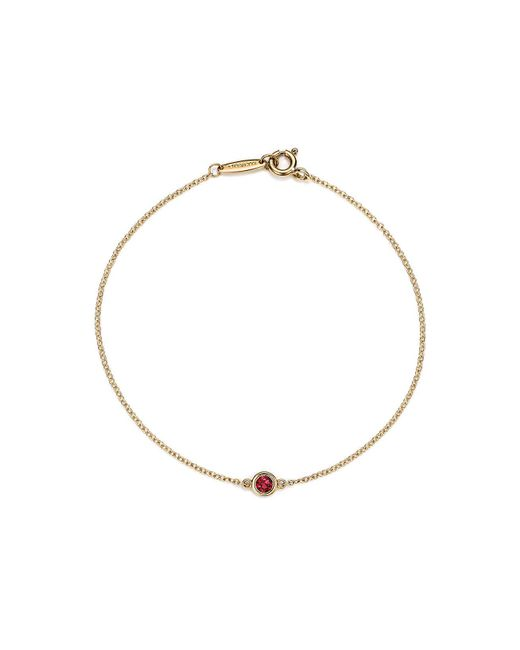 Tiffany & Co - Metallic Elsa Peretti. Color By The Yard Bracelet In 18ct Gold With A Ruby - Lyst