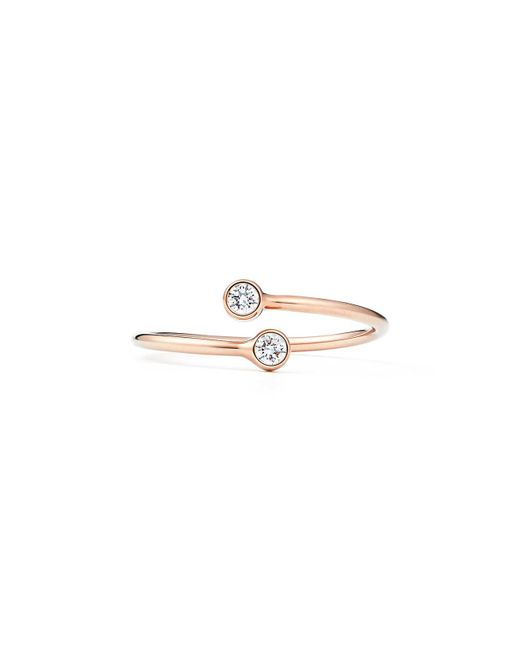 Tiffany & Co - Metallic Diamond Hoop Ring - Lyst
