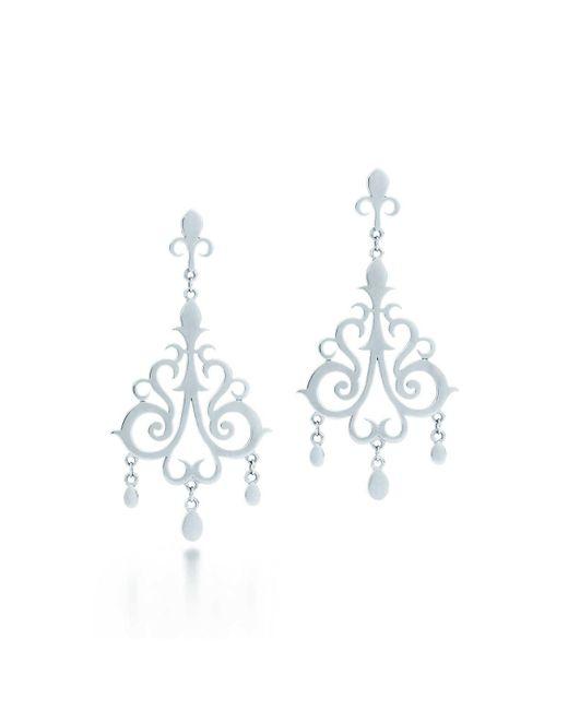 Tiffany & Co   Metallic Drop Earrings   Lyst