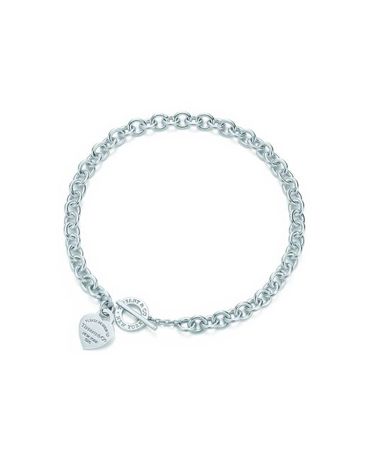 Tiffany & Co | Metallic Heart Tag Toggle Necklace In Sterling Silver | Lyst