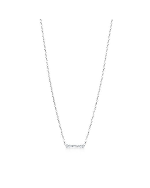 Tiffany & Co | Metallic Key Stem Pendant In Platinum With Diamonds | Lyst