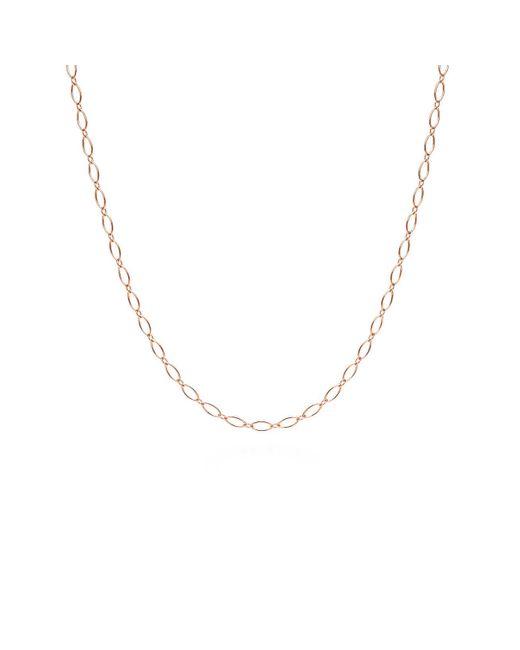 "Tiffany & Co - Metallic Oval Link Chain In 18k Rose Gold, 20"" Long - Size 20 In - Lyst"