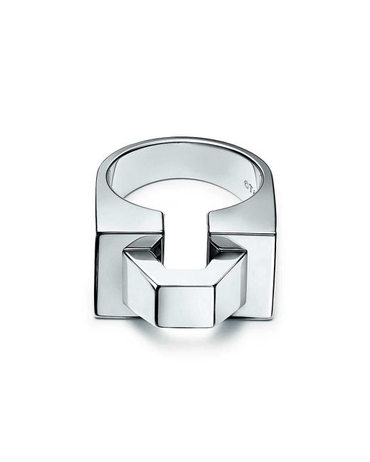 Tiffany & Co - Metallic Out Of Retirementtm Block Ring In Sterling Silver - 6 - Lyst