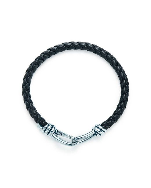 Tiffany & Co - Black Knot Single Braid Bracelet - Lyst