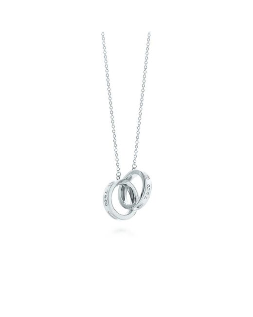 Tiffany & Co - Metallic Interlocking Circles Pendant - Lyst