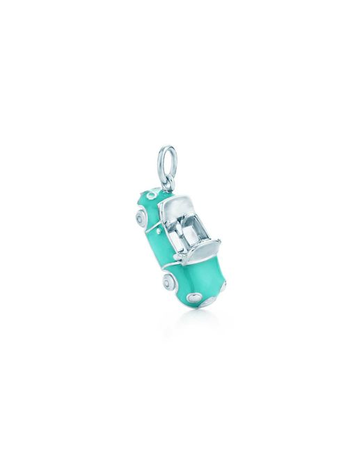 Tiffany & Co | Metallic Convertible Charm In Sterling Silver With Tiffany Blue. Enamel Finish | Lyst