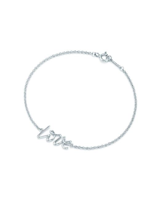 Tiffany & Co - Metallic Love Bracelet In Sterling Silver, Mini - Lyst