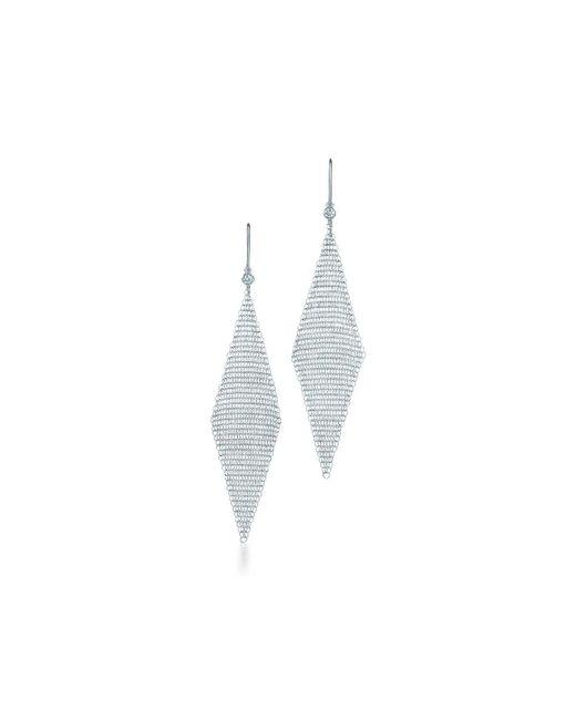 Tiffany & Co | Metallic Mesh Earrings | Lyst