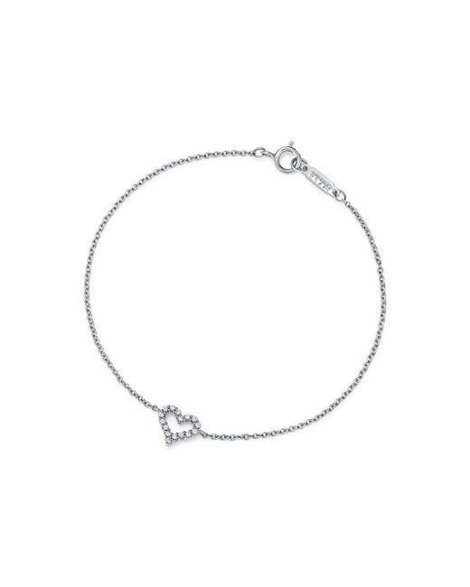 Tiffany & Co - Metallic Heart Bracelet In Platinum With Diamonds, Medium - Lyst
