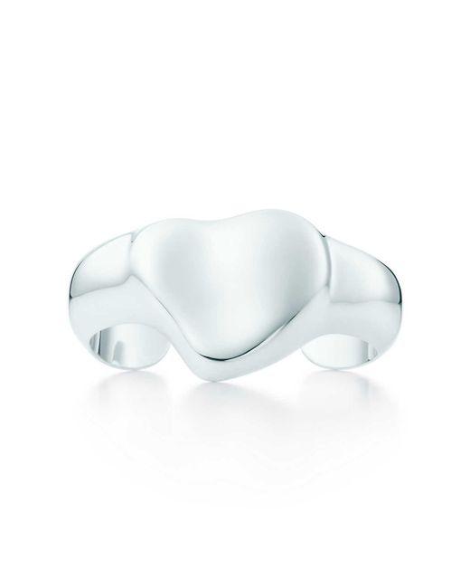 Tiffany & Co | Metallic Full Heart Cuff | Lyst