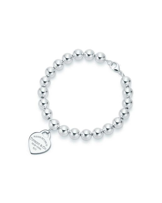 Tiffany & Co | Metallic Heart Tag Bracelet | Lyst