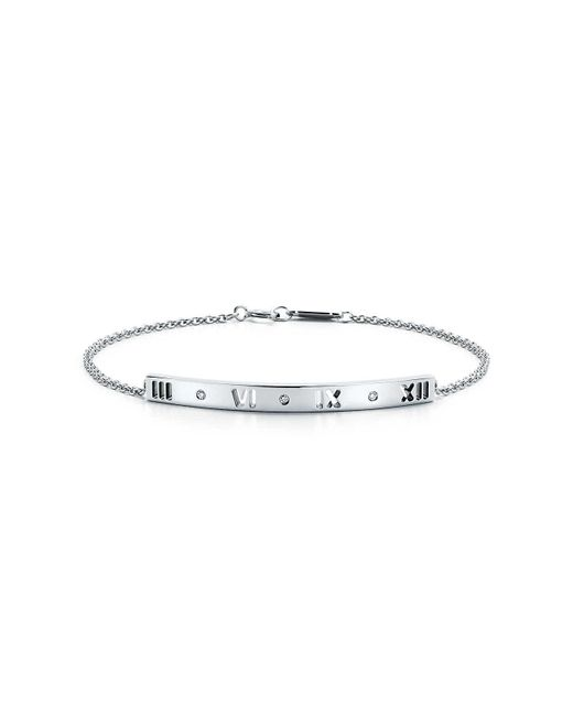 Atlas | White Pierced Bar Bracelet | Lyst