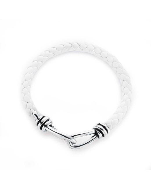 Tiffany & Co   White Knot Single Braid Bracelet   Lyst