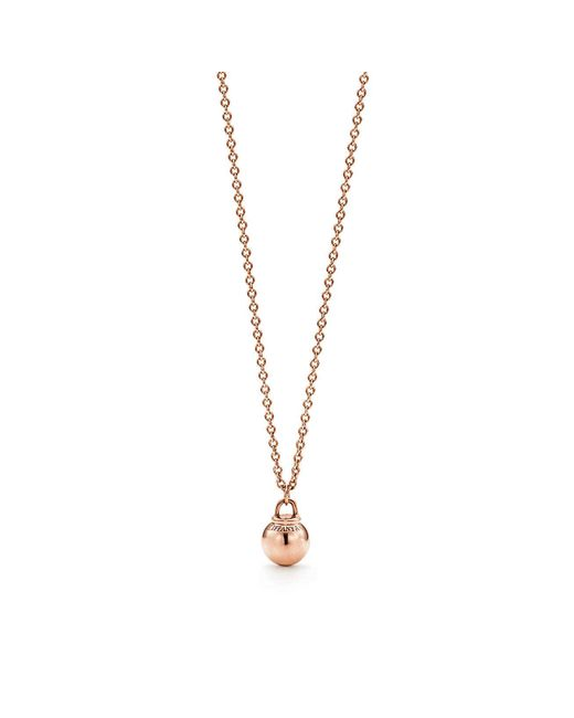 Tiffany & Co - Metallic Tiffany City Hardwear Ball Pendant In 18k Rose Gold - Size 8 Mm - Lyst