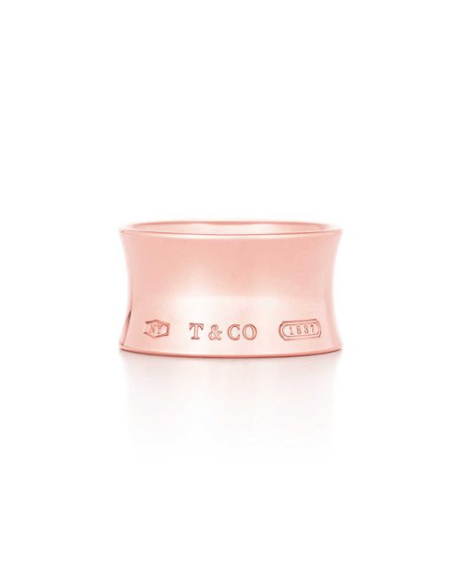 Tiffany & Co - Pink Tiffany 1837tm Wide Ring In Rubedo. Metal - 8 - Lyst