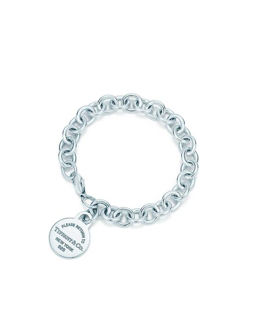 Tiffany & Co   Metallic Round Tag Bracelet   Lyst