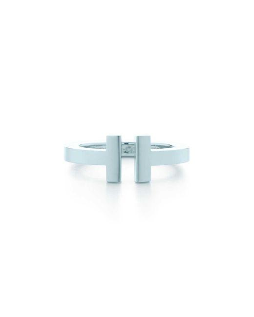 Tiffany & Co - Metallic Tiffany T Sterling Silver Square Ring - Lyst