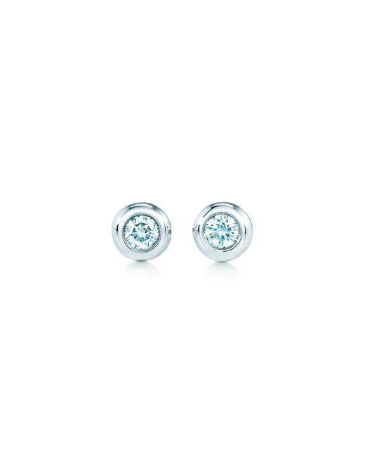 Tiffany Co Metallic Elsa Peretti Diamonds By The Yard Earrings In Sterling