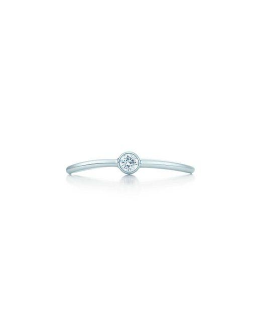 Tiffany & Co - Blue Wave Single-row Diamond Ring - Lyst