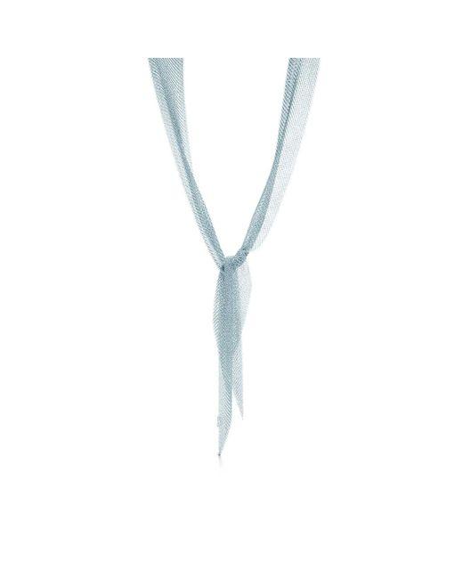 Tiffany & Co - Metallic Mesh Scarf Necklace - Lyst