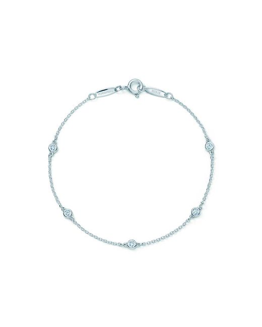 Tiffany & Co - Metallic Elsa Peretti. Diamonds By The Yard. Bracelet In Sterling Silver - Size .25 - Lyst