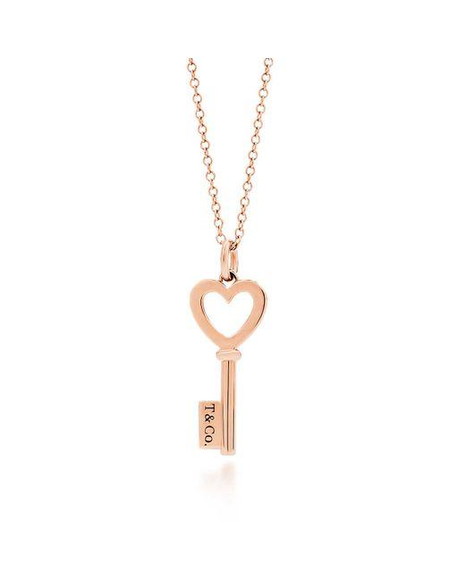 Tiffany & Co | Pink Tiffany Keys Heart Key Pendant In 18k Rose Gold, Mini | Lyst