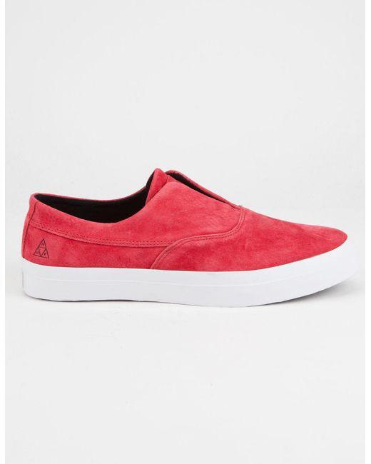 Huf - Red Dylan Slip On Mens Shoes for Men - Lyst