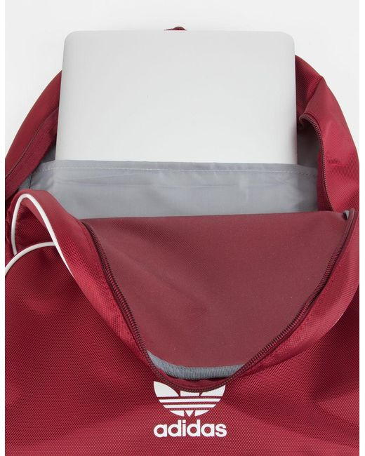 Lyst adidas Originals Santiago Borgoña mochila en rojo para hombres