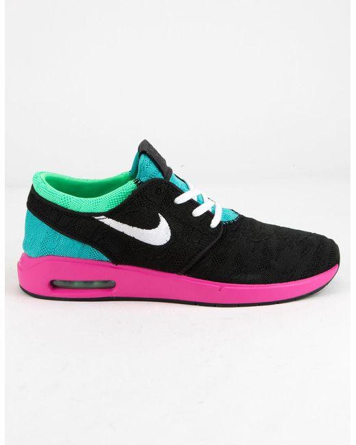 new product 86c1a 364b7 Nike - Sb Air Max Janoski Black   Vert Electro Mens Shoes for Men - Lyst ...