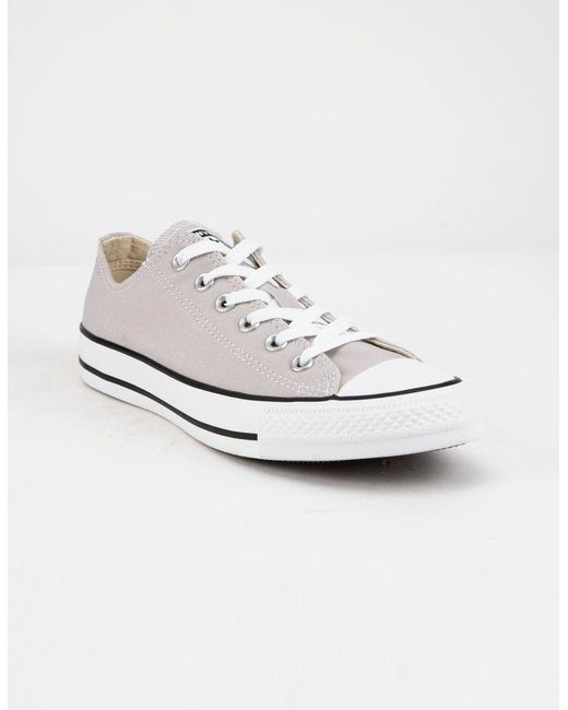 9a68555575ba ... Converse White Chuck Taylor All Star Violet Ash Low Top Womens Shoes ...